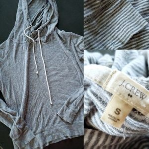 J. Crew light-weight Hooded Sweater